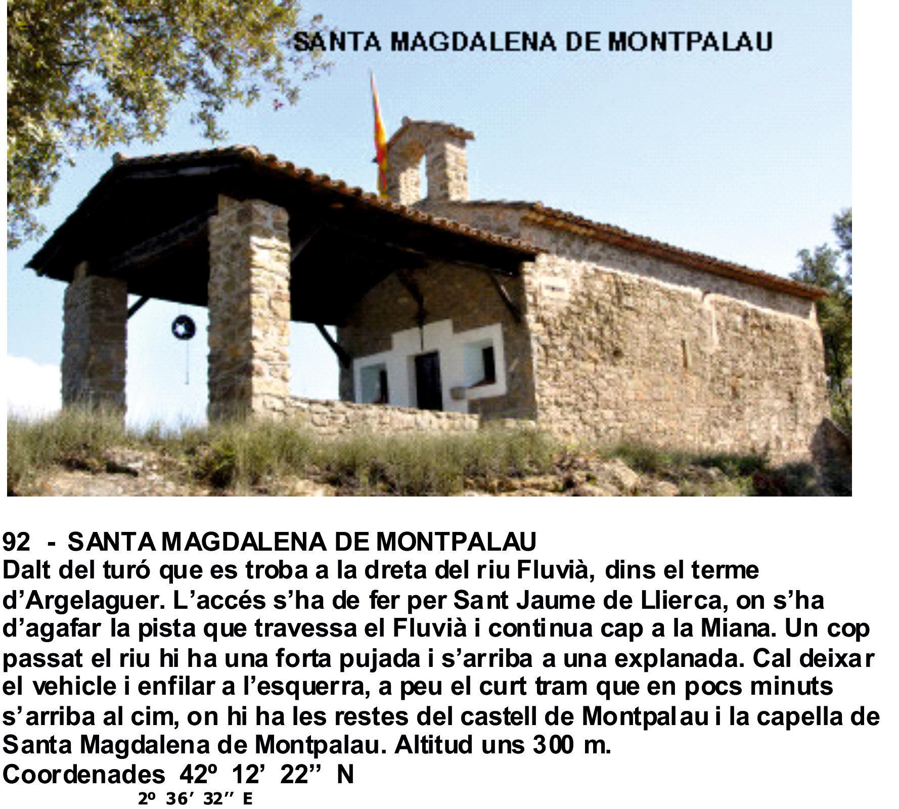 92  -  SANTA MAGDALENA DE MONTPALAU