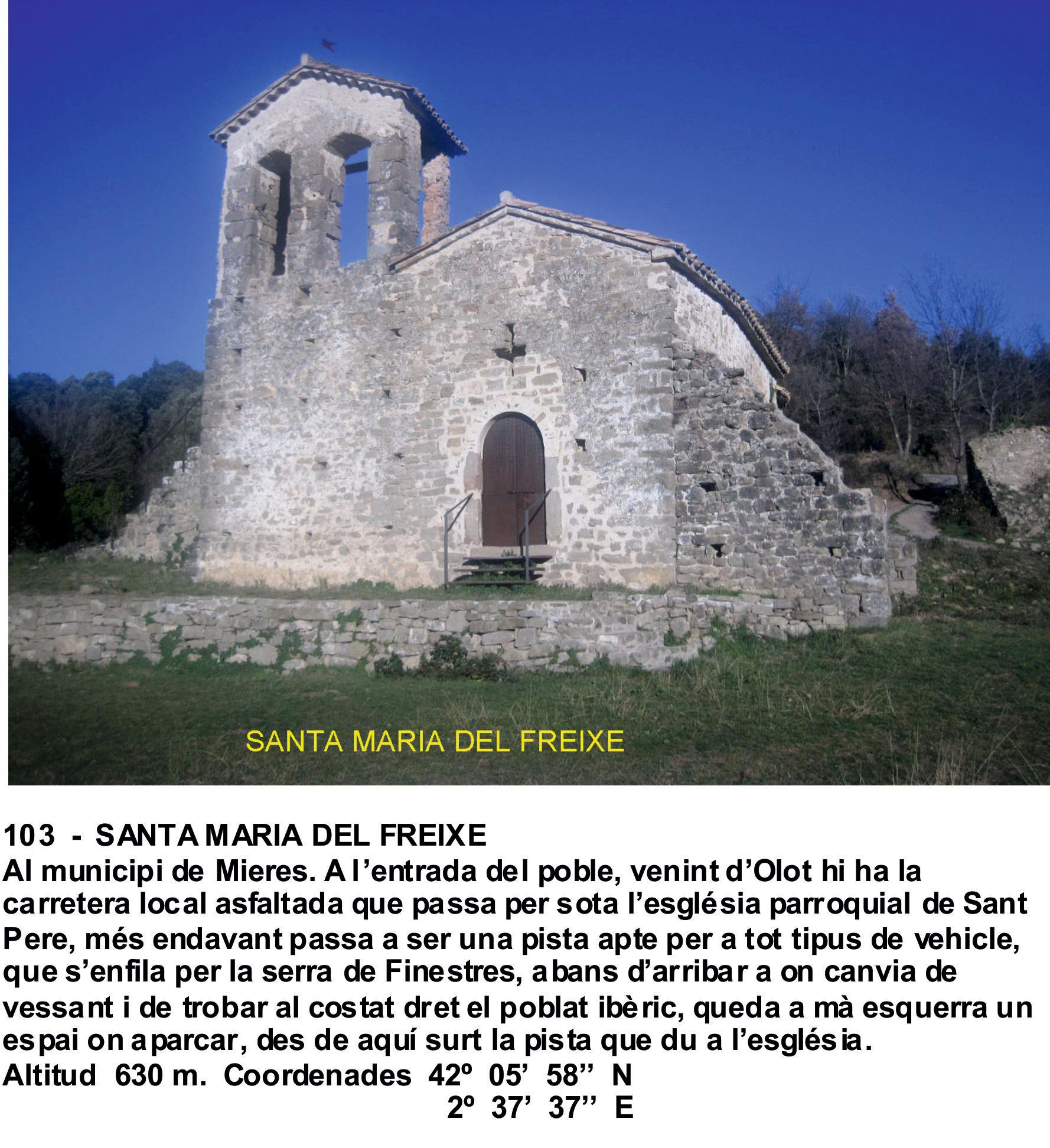103  -  SANTA MARIA DEL FREIXE