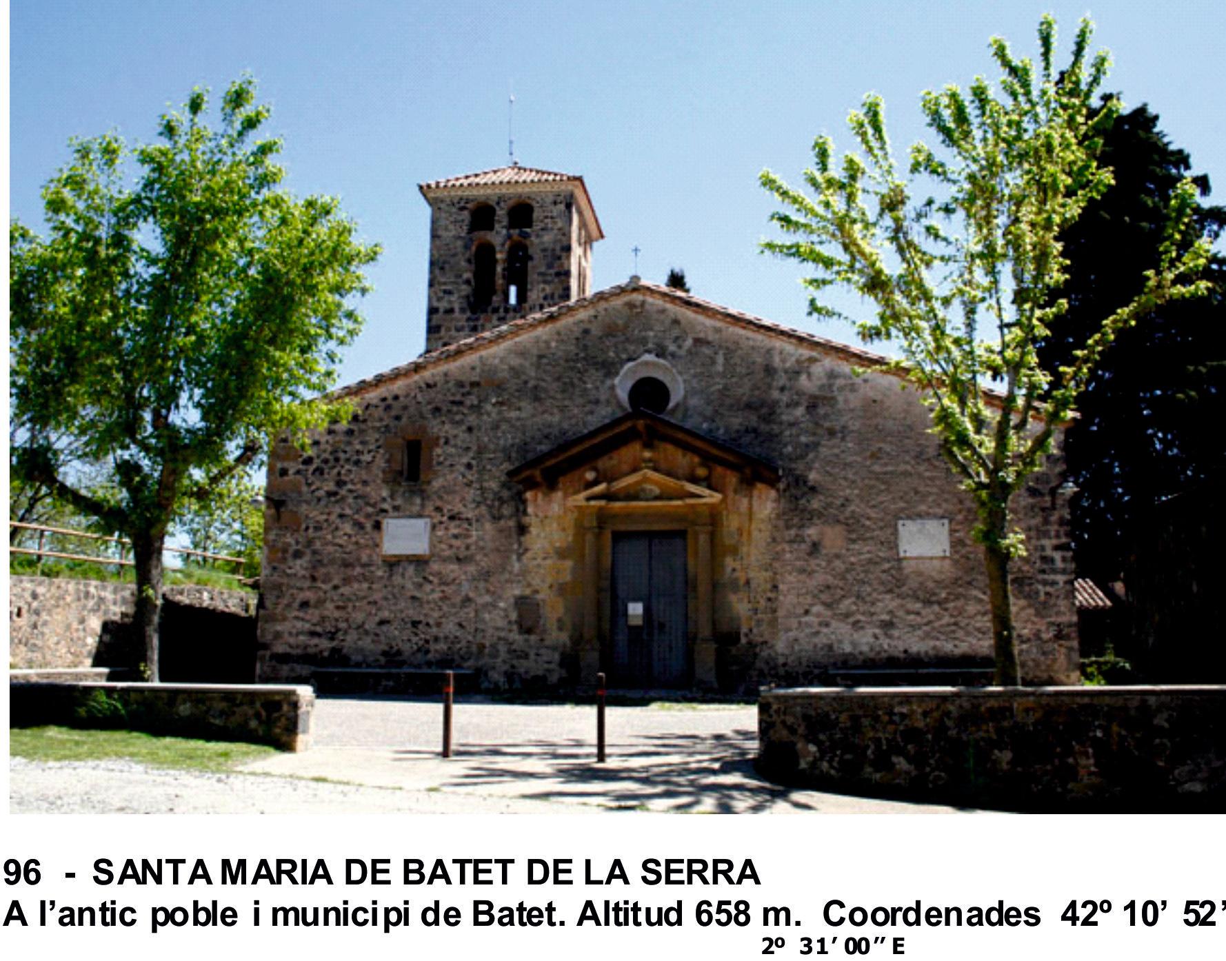 96  -  SANTA MARIA DE BATET DE LA SERRA