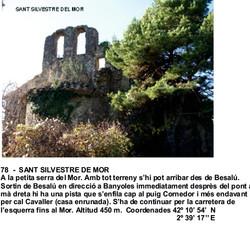 78  -  SANT SILVESTRE DE MOR