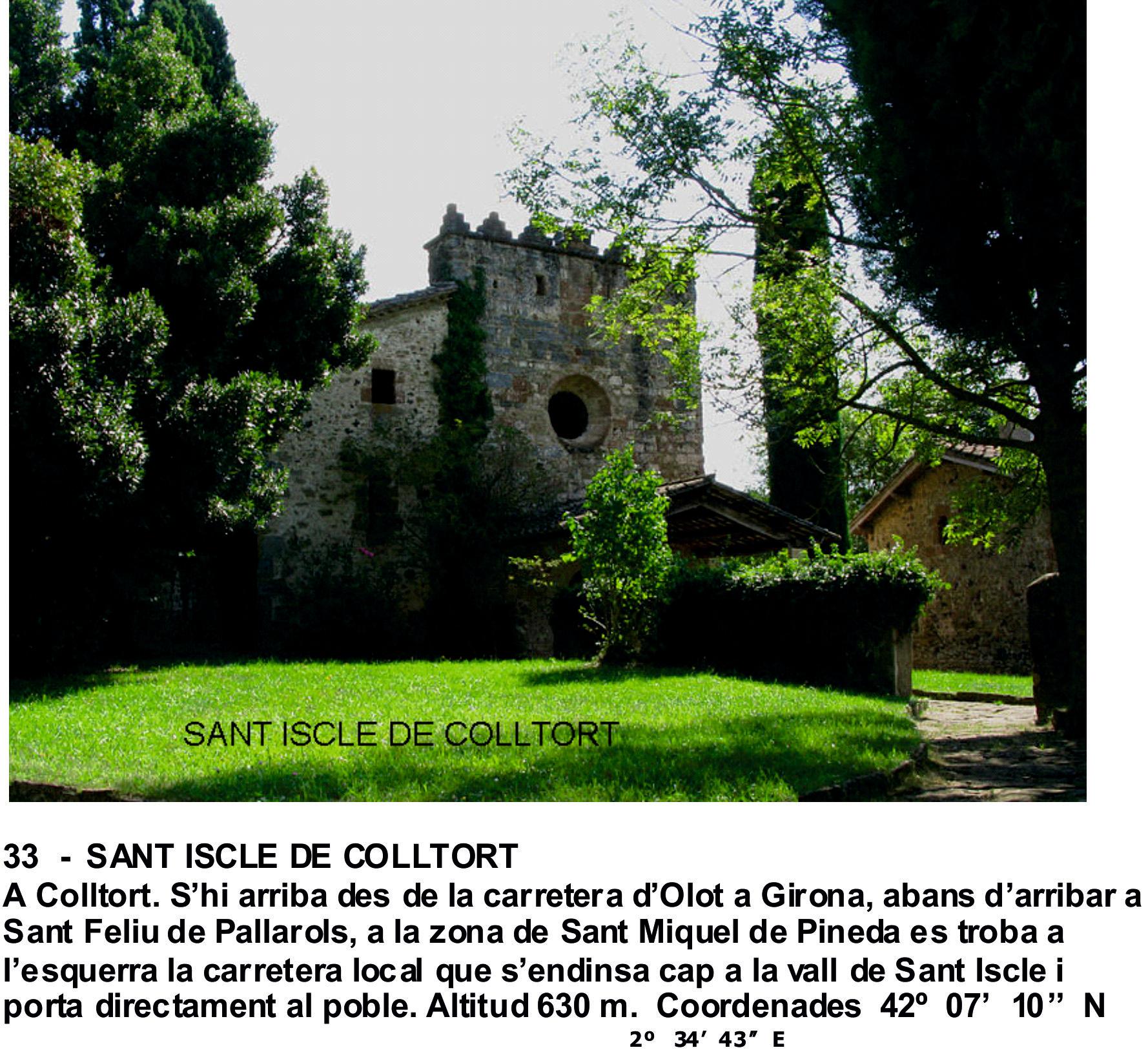 33  -  SANT ISCLE DE COLLTORT