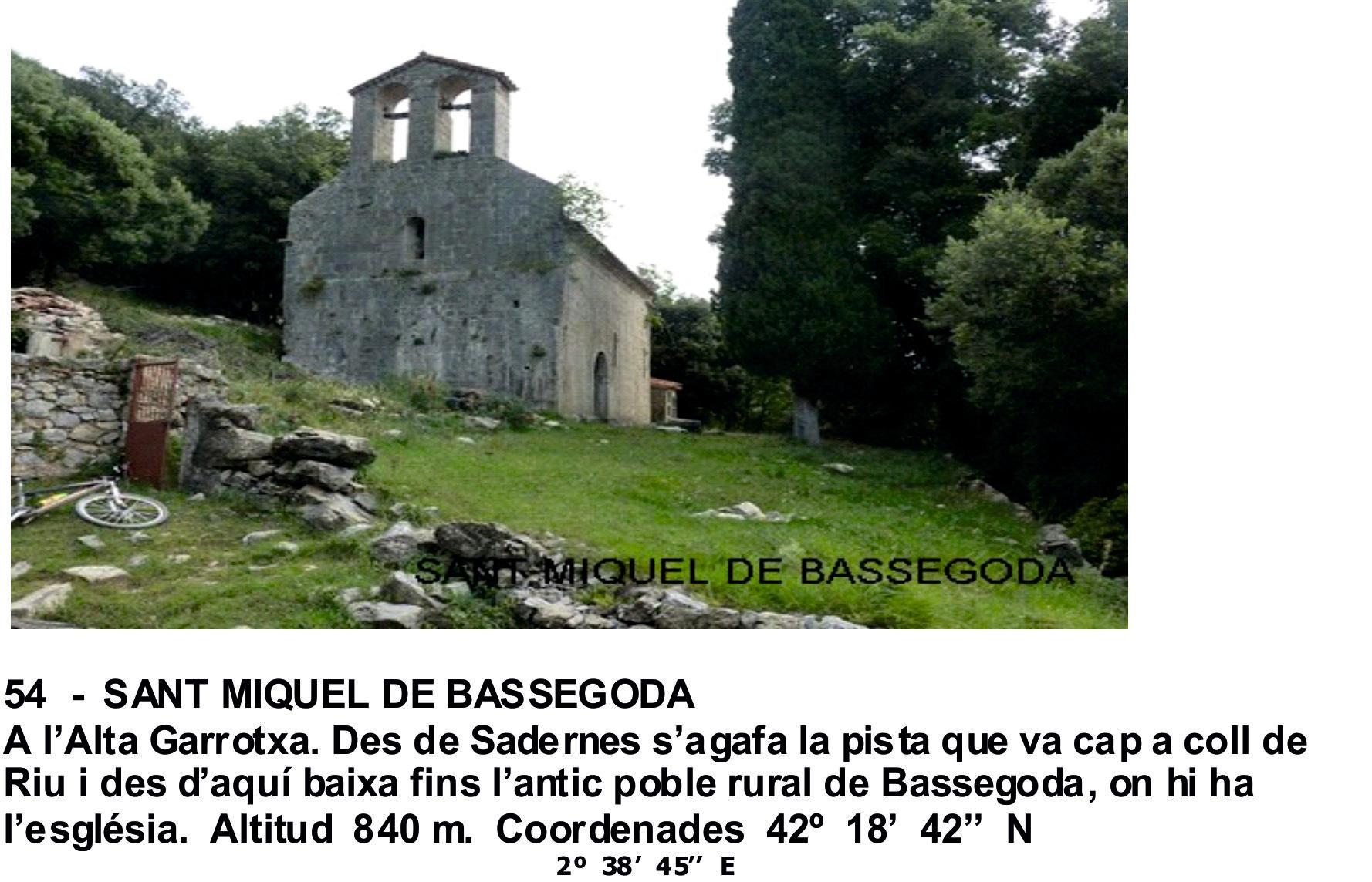54  -  SANT MIQUEL DE BASSEGODA