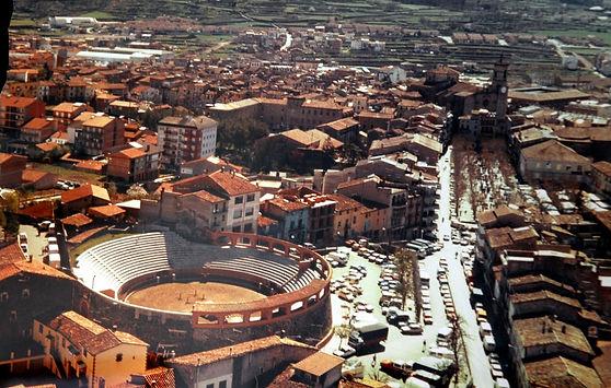 Vista de pajaro ciudad Olot