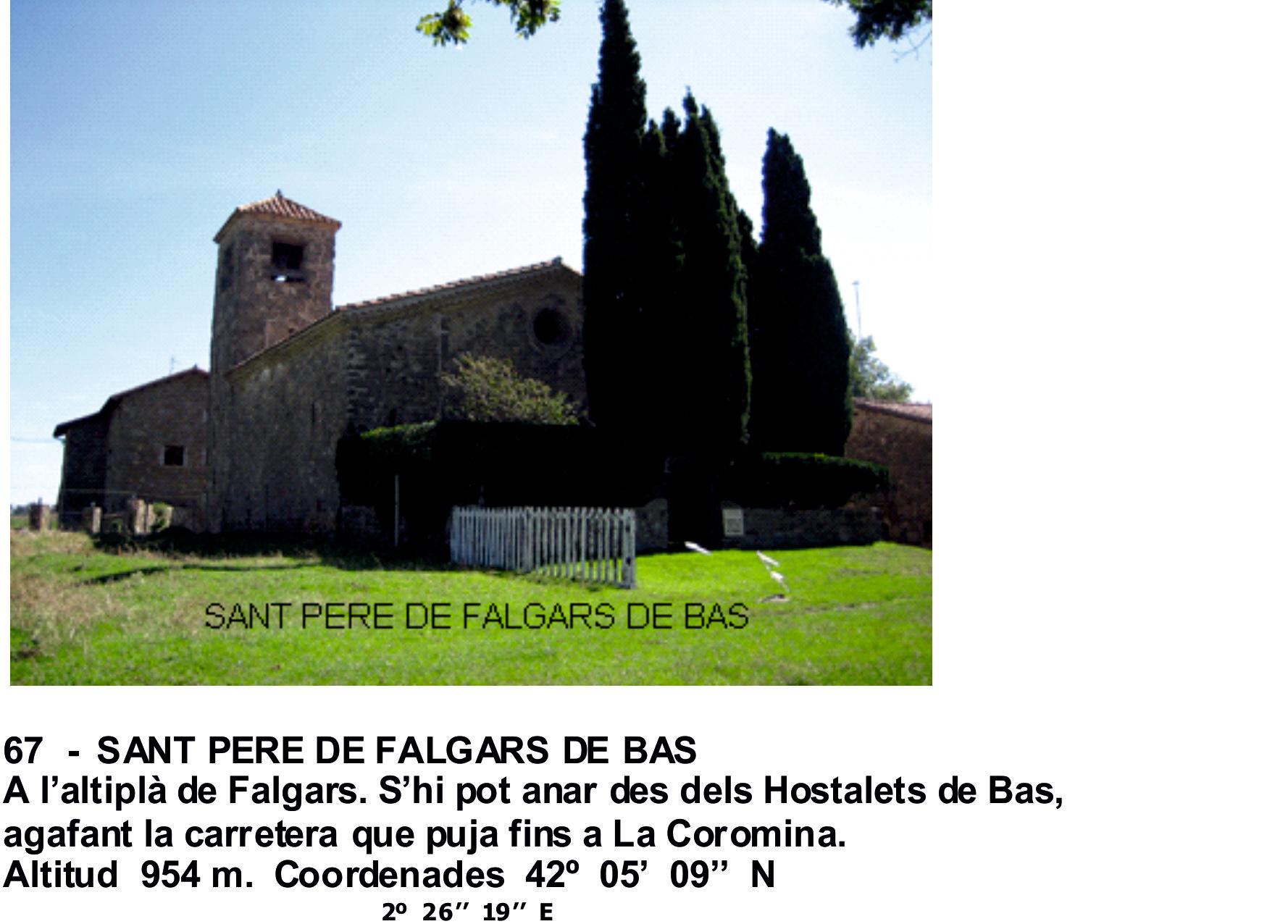 67  -  SANT PERE DE FALGARS DE BAS