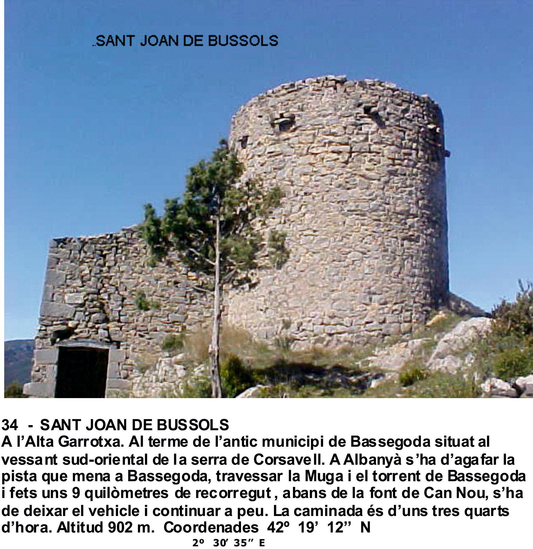 34  -  SANT JOAN DE BUSSOLS
