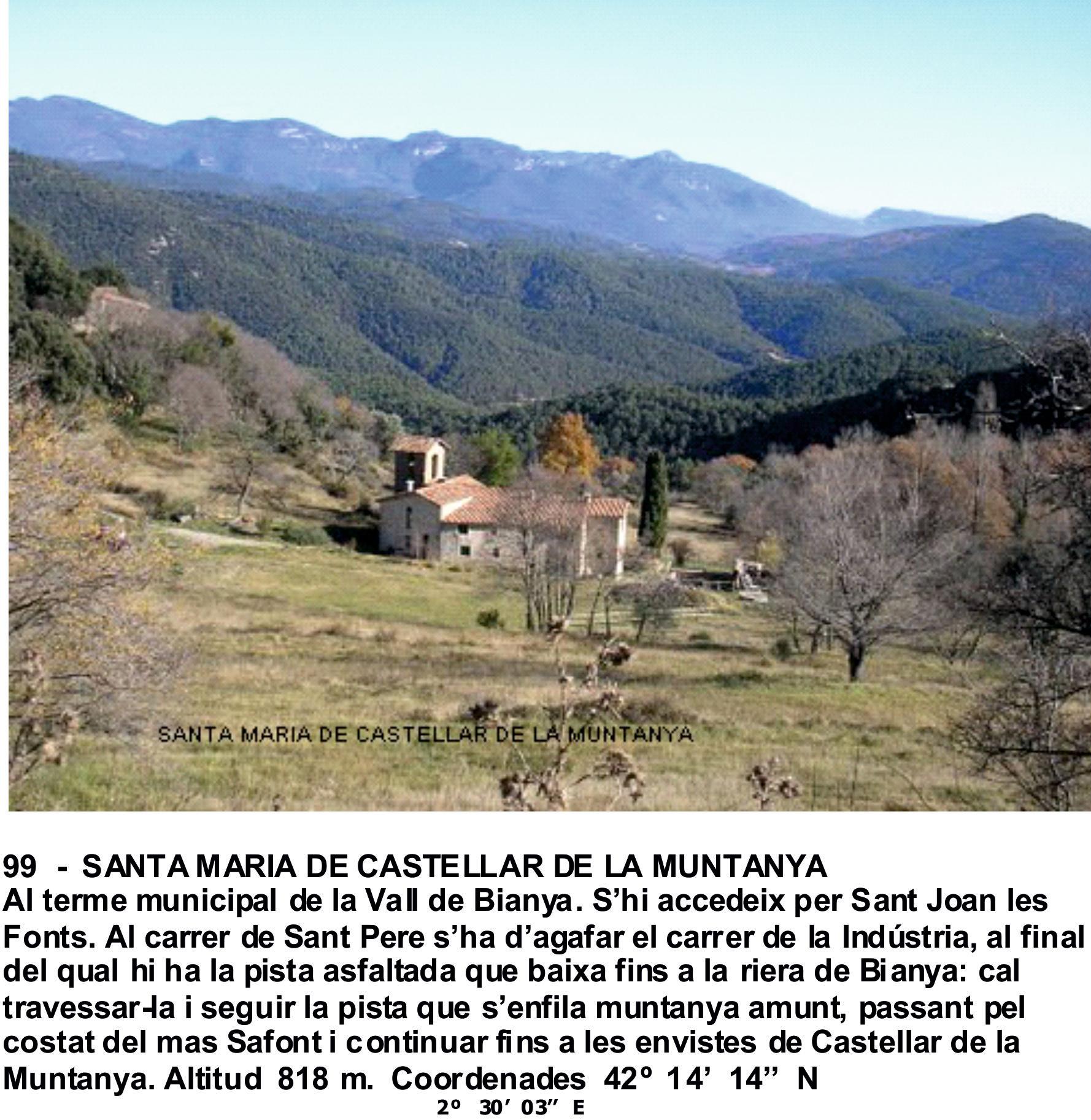 99  -  SANTA MARIA DE CASTELLAR DE LA MUNTANYA