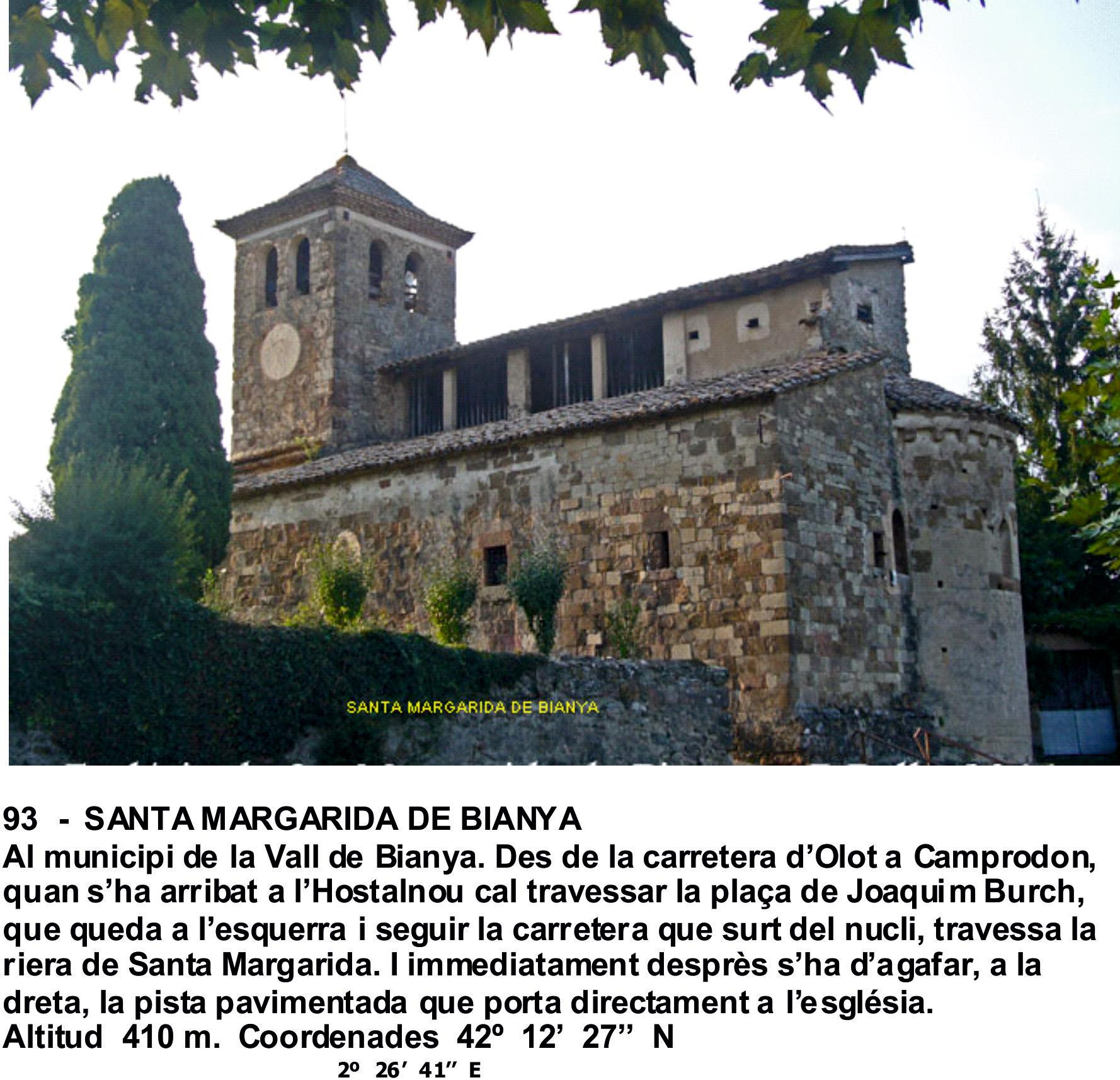 93  -  SANTA MARGARIDA DE BIANYA