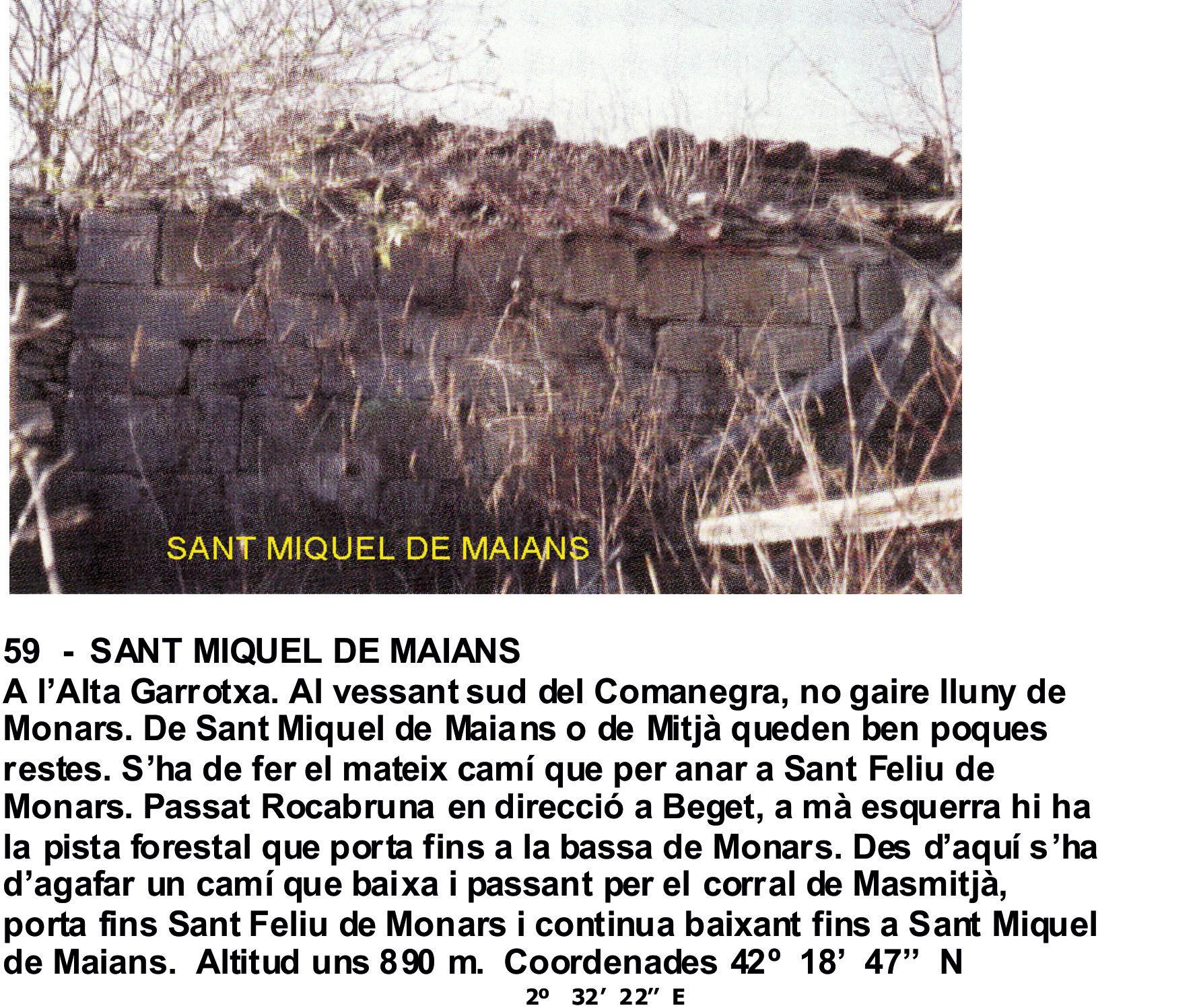 59  -  SANT MIQUEL DE MAIANS