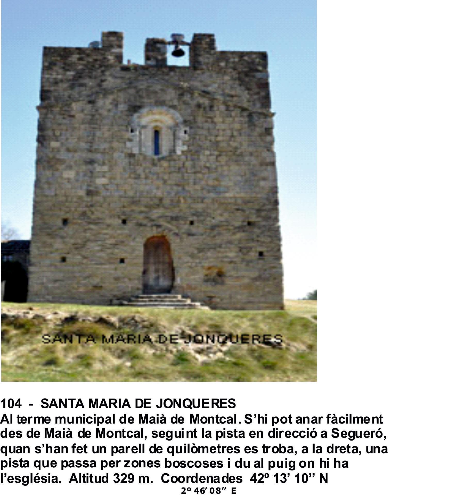 104  -  SANTA MARIA DE JONQUERES