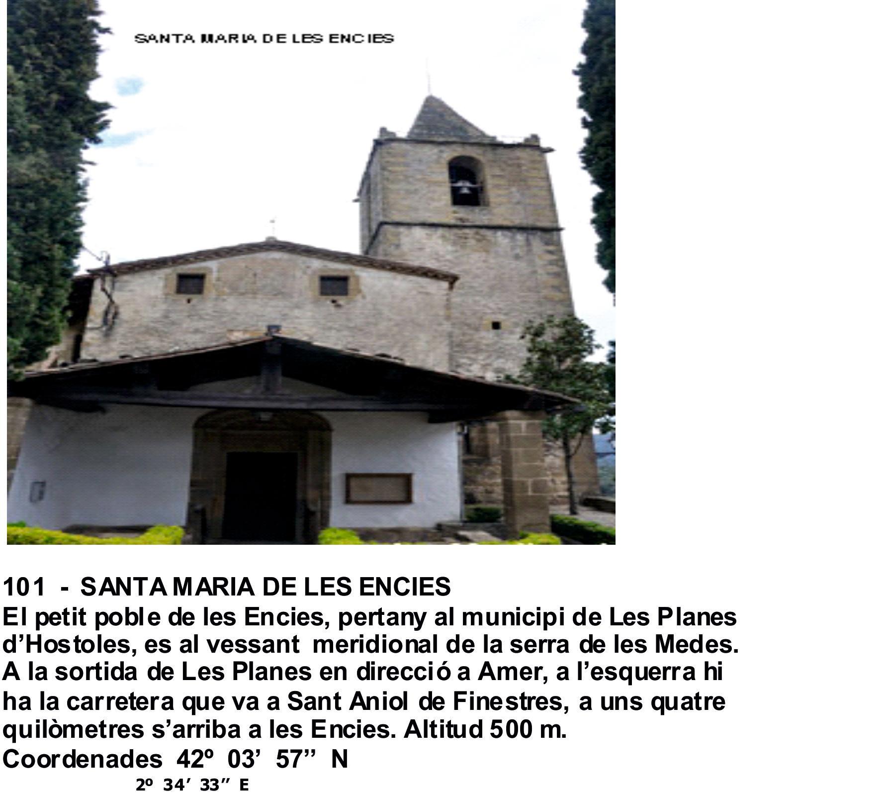 101  -  SANTA MARIA DE LES ENCIES