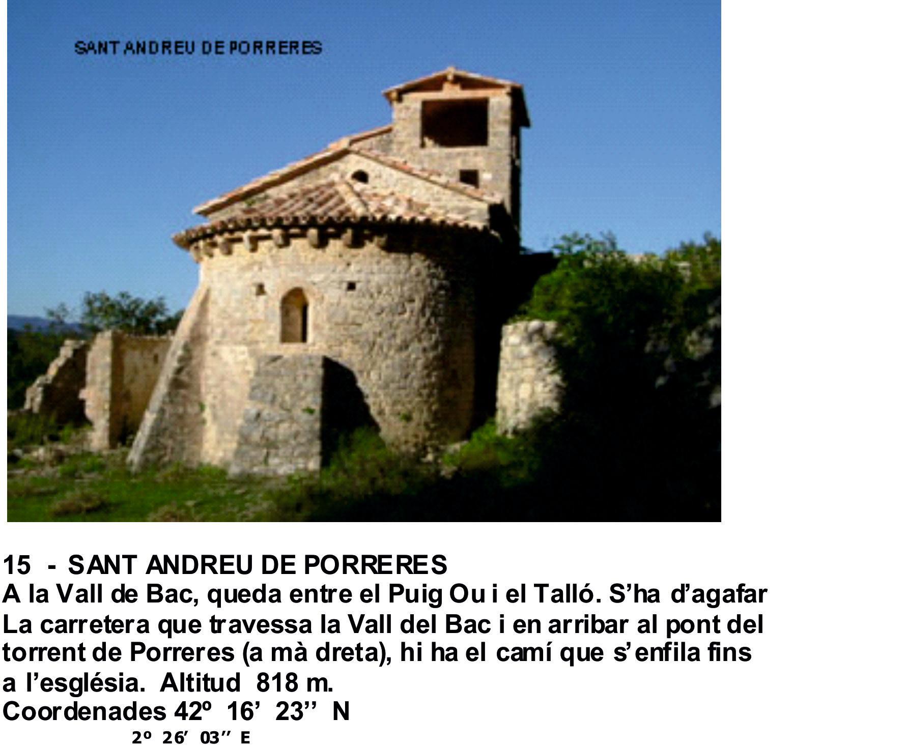 15  -  SANT ANDREU DE PORRERES