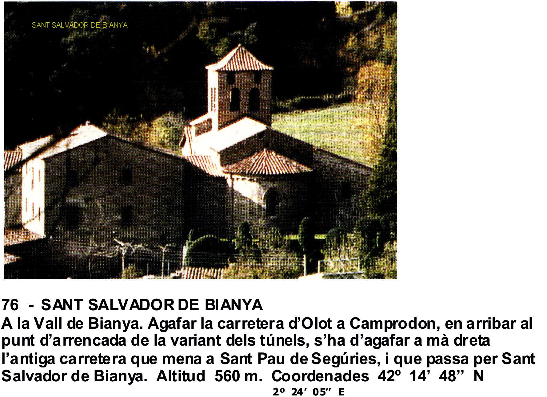 76  -  SANT SALVADOR DE BIANYA