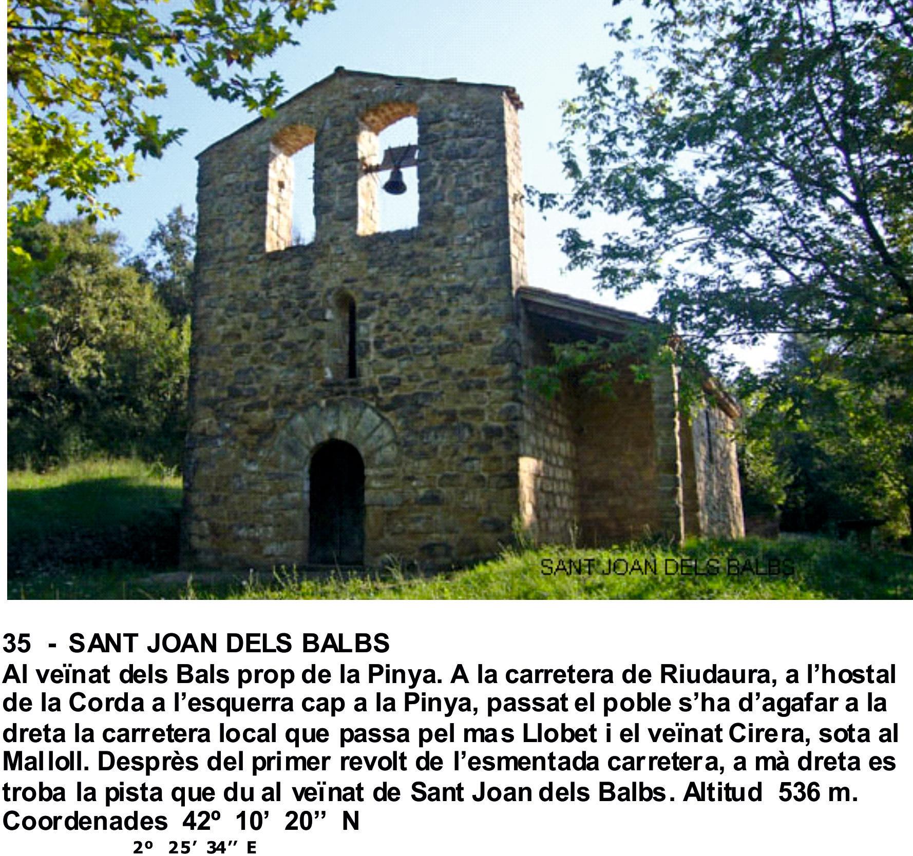 35  -  SANT JOAN DELS BALBS