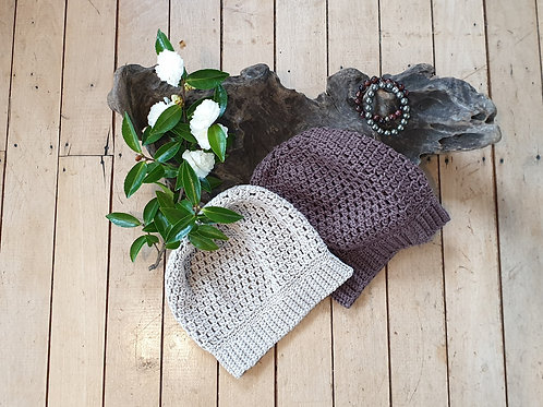 Womens Cotton Slouchy Hat
