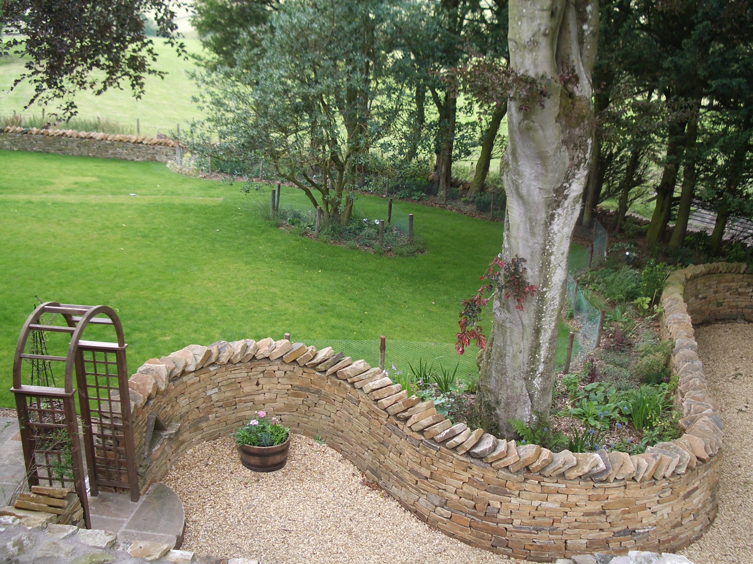 Winding Drystone Wall