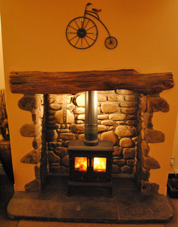 Natural Riverstone Fireplace