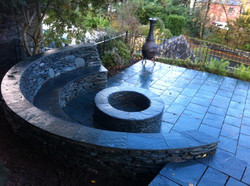 Curved Slate Seating Area
