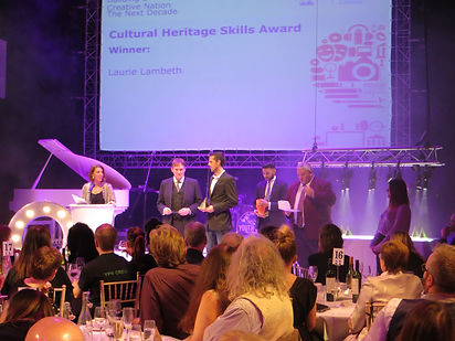 Laurie Lambeth at the creative and cultural skills awards