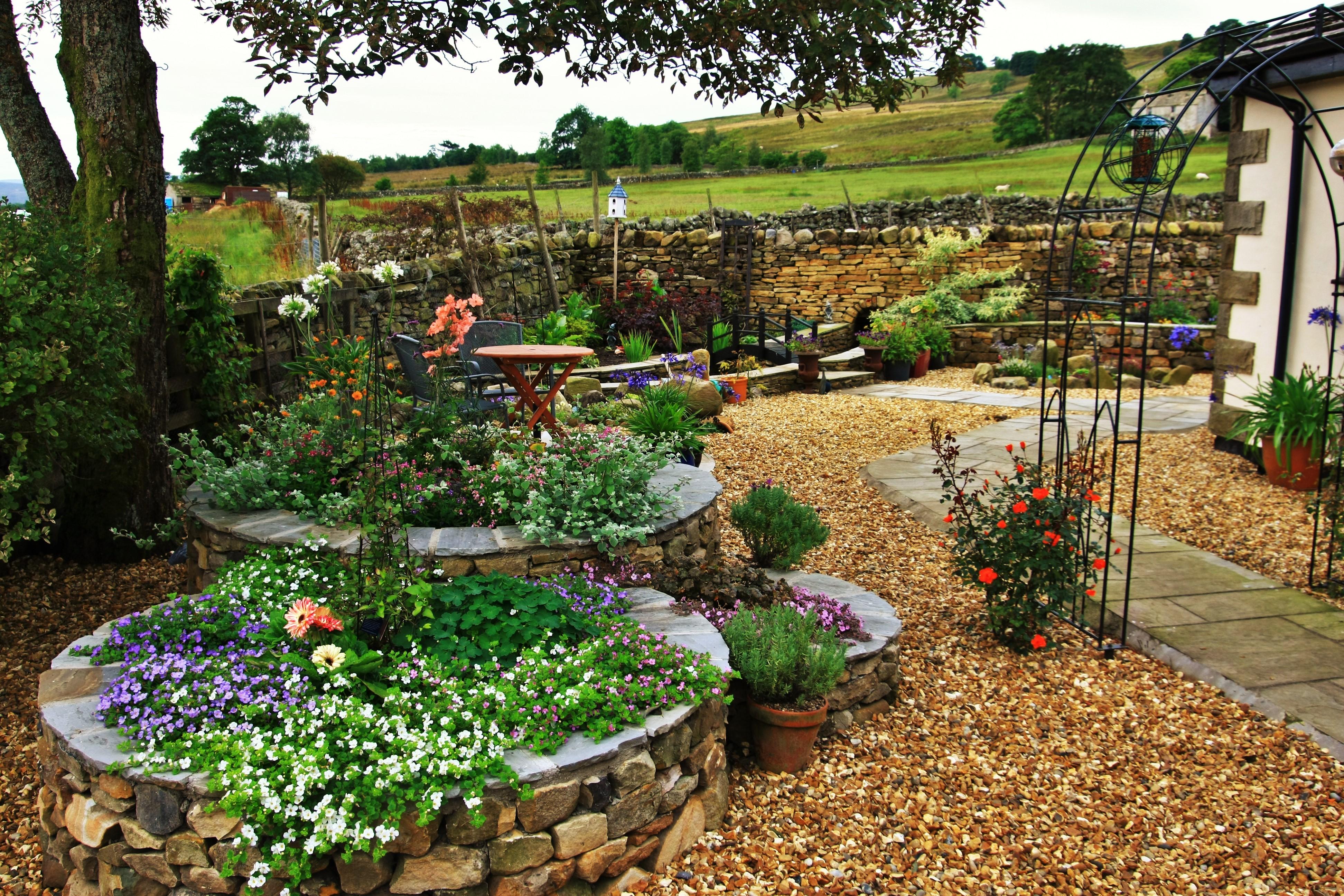 Raised Flower Beds & Retaining Walls