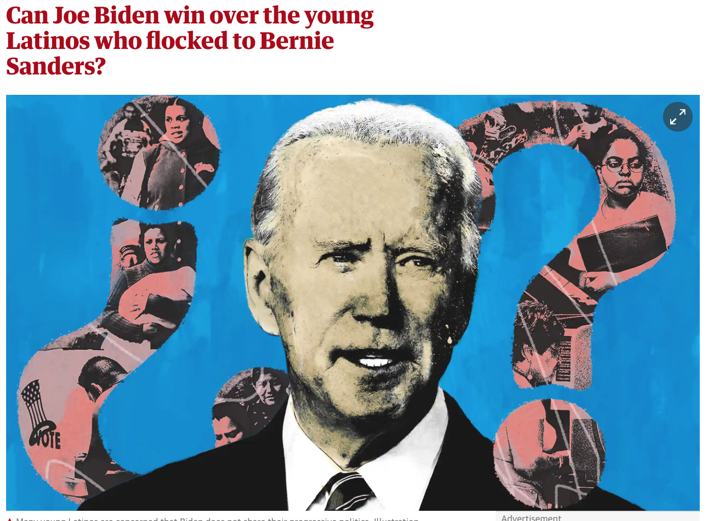 Can Joe Biden win over the young Latinos who flocked to Bernie Sanders?
