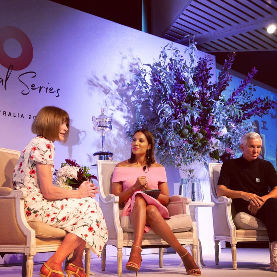 Vogue editor in chief Anna Wintour championing LGBT rights at the Australian Open Inspirational Series brunch in Melbourne on Thurs 24th January 2019