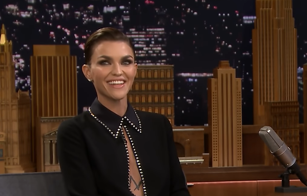 Ruby Rose appeared on The Tonight Show Starring Jimmy Fallon on Wednesday night, talking about her elation at being cast as a lesbian Batwoman.