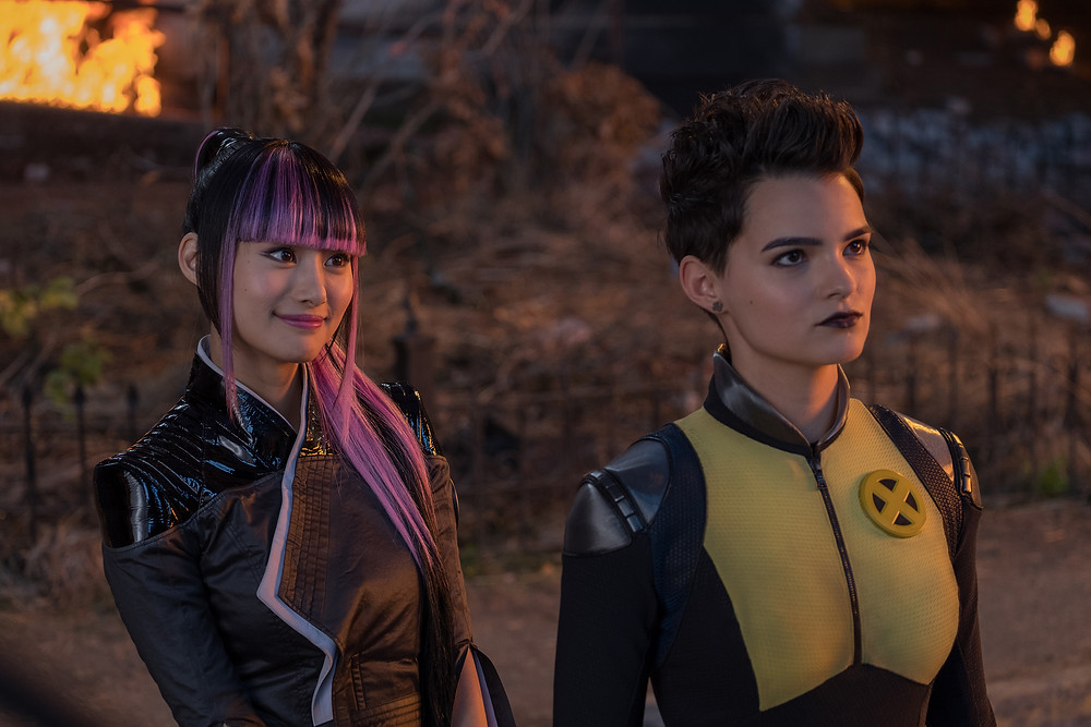 Shioli Kutsuna (Yukio) and Brianna Hildebrand (Negasonic Teenage Warhead) play superhero girlfriends in Twentieth Century Fox's DEADPOOL 2