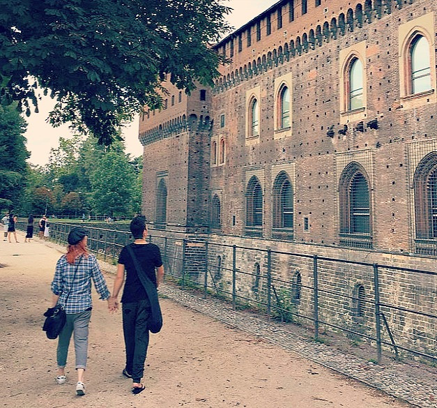 Exploring the medieval masterpiece Castle Sforza in Milan.