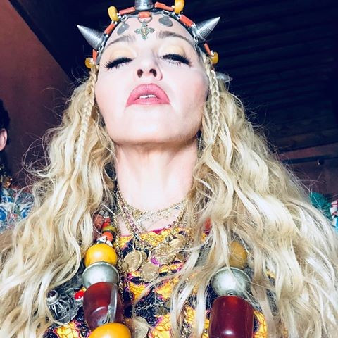 Madonna celebrating her 60th birthday in Morocco.