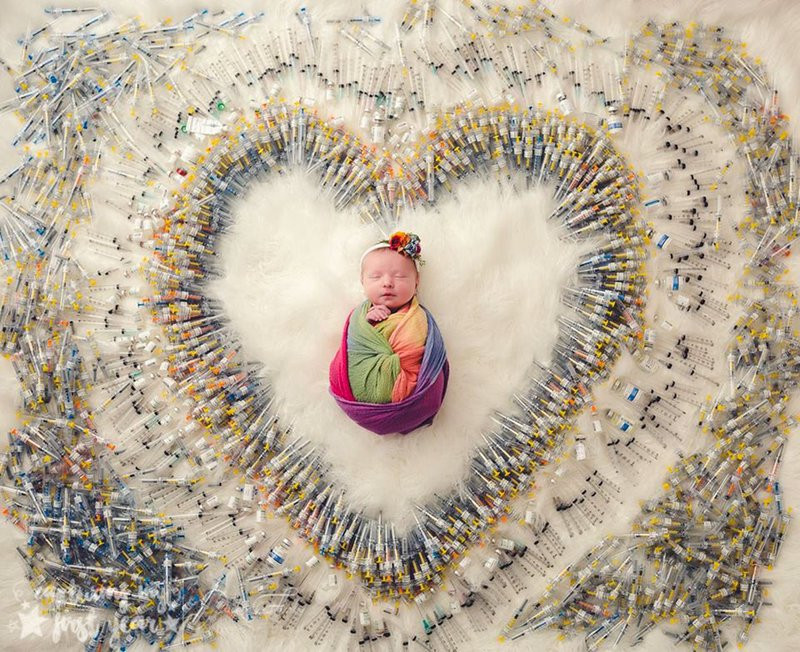 This photo of newborn IVF baby London has gone viral