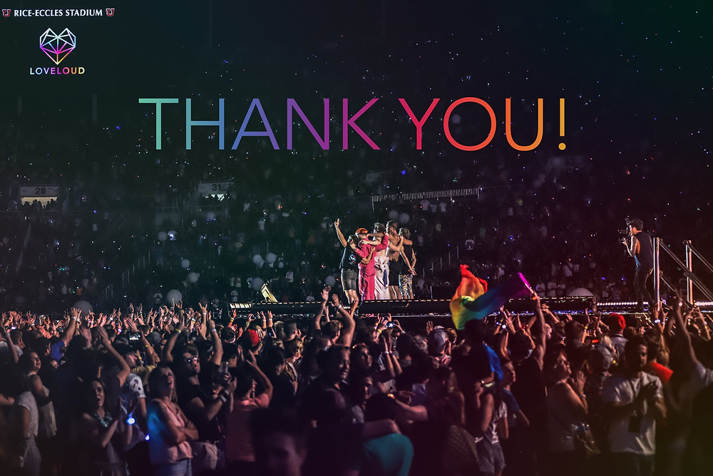 This year's LoveLoud Festival has raised over a million dollars for LGBT+ charities.