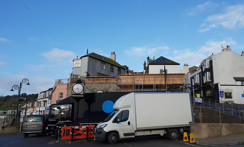Sets being built in Lyme-Regis for Ammonite, a film about fossil hunter Mary Anning