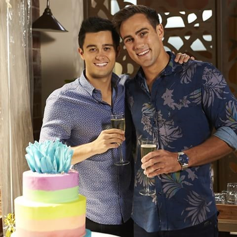 David and Aaron are getting married on Neighbours.