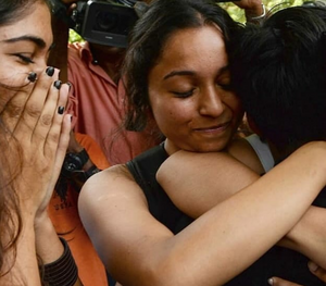 Scenes of relief and joy outside Delhi's Supreme Court after judges unanimously agreed to make consensual gay sex legal.
