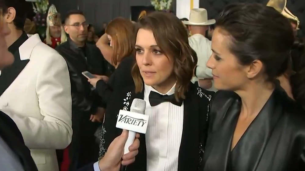 """These nominations have changed my whole life, you know. They've changed my visibility and my ability to represent my community in a way that I'll never forget,"" lesbian singer Brandi Carlile said on the Grammys red carpet Sunday Feb 10, 2019."