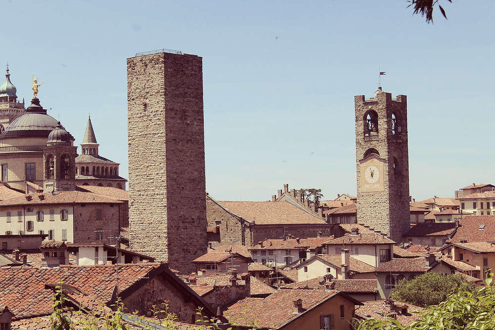 The bell tower in Bergamo's citta alta still chimes 100 times at night to tell locals to come inside before the gates shut.