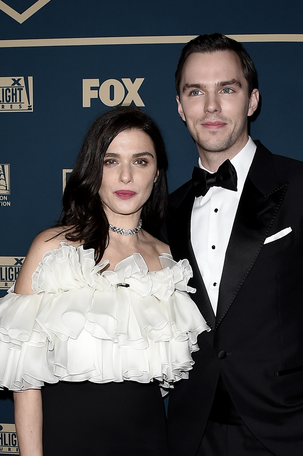 The Favourite co-stars Rachel Weisz & Nicholas Hoult at the Golden Globes Fox Party