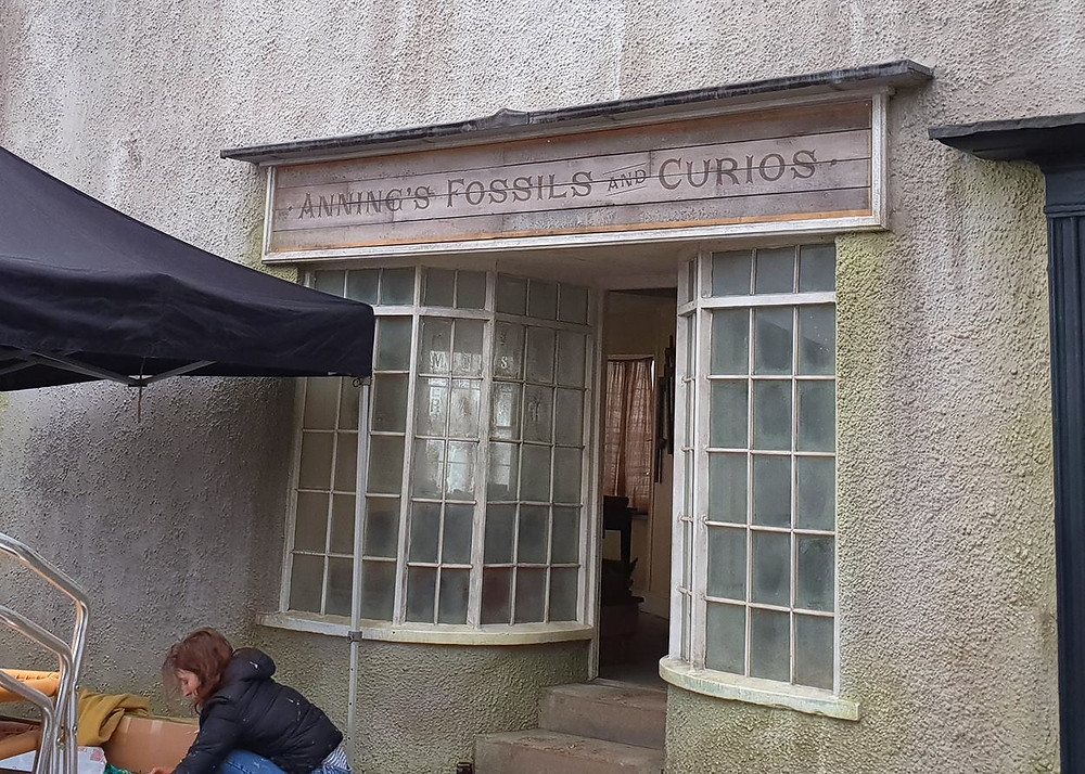 The set for Anning's Fossils and Curios in Lyme-Regis.
