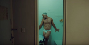 Mark Kanemura dancing in his underwear in Carly Rae Jepsen's Party For One video