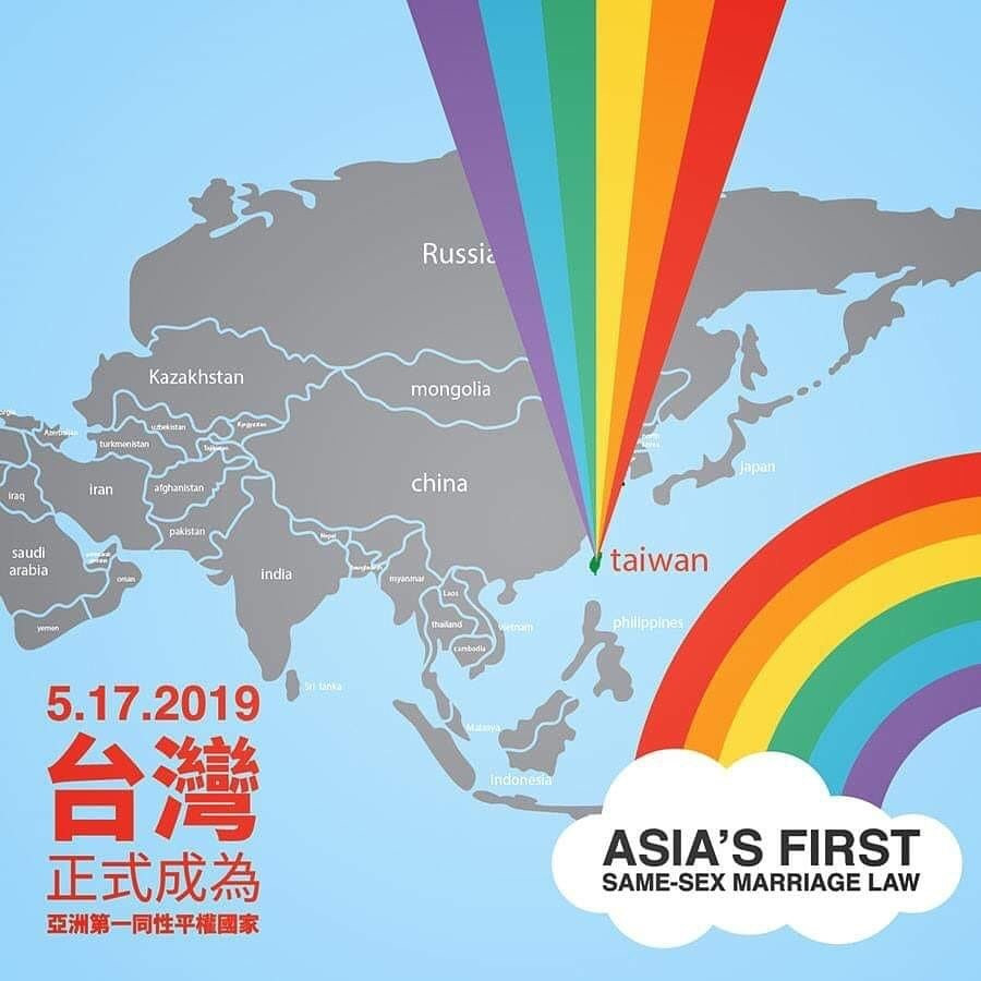 After years of fighting by LGBT activists, Taiwan has become the first place in Asia to achieve marriage equality