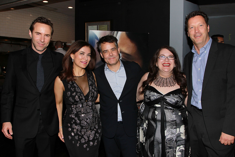 Alessandro Nivola, producer Frida Torresblanco, Sebastián Lelio,and author Naomi Alderman at the Disobedience premiere at the Tribeca Film Festival.