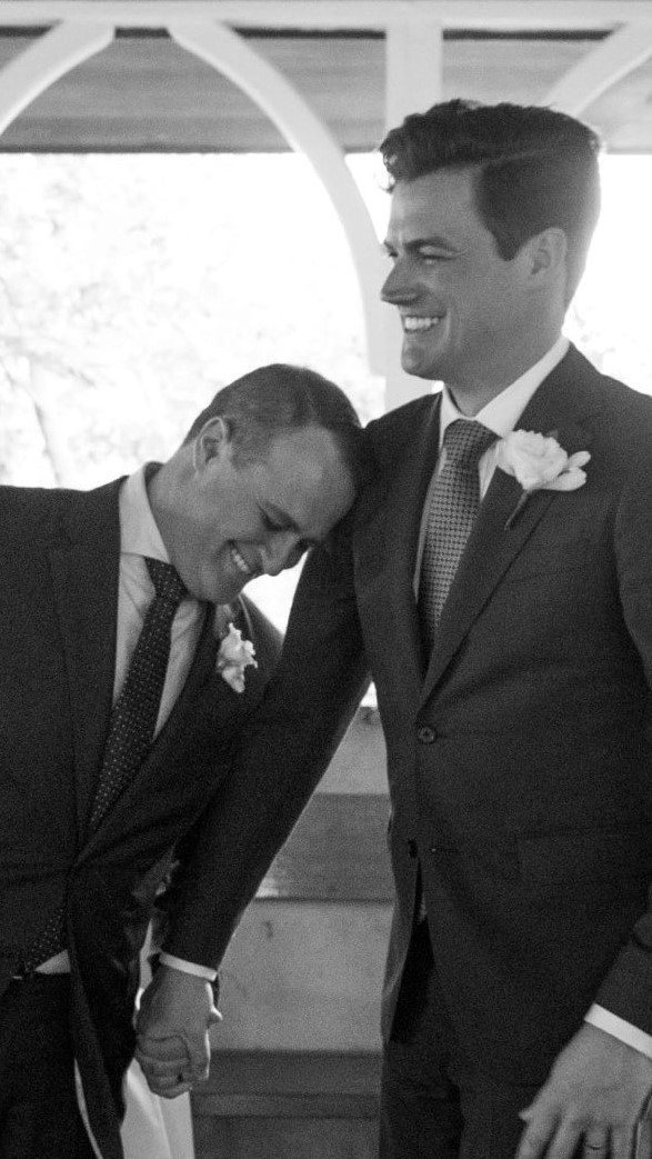 Liberal MP and marriage equality advocate Tim Wilson finally married his fiance of nine years, Ryan Bolger. #LoveWins