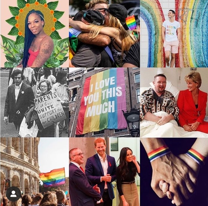 "Prince Harry & Meghan Markle kicked off Pride Month by following the Instagram accounts of LGBT+ campaigners who are ""supporting the LGBTQ+ community"