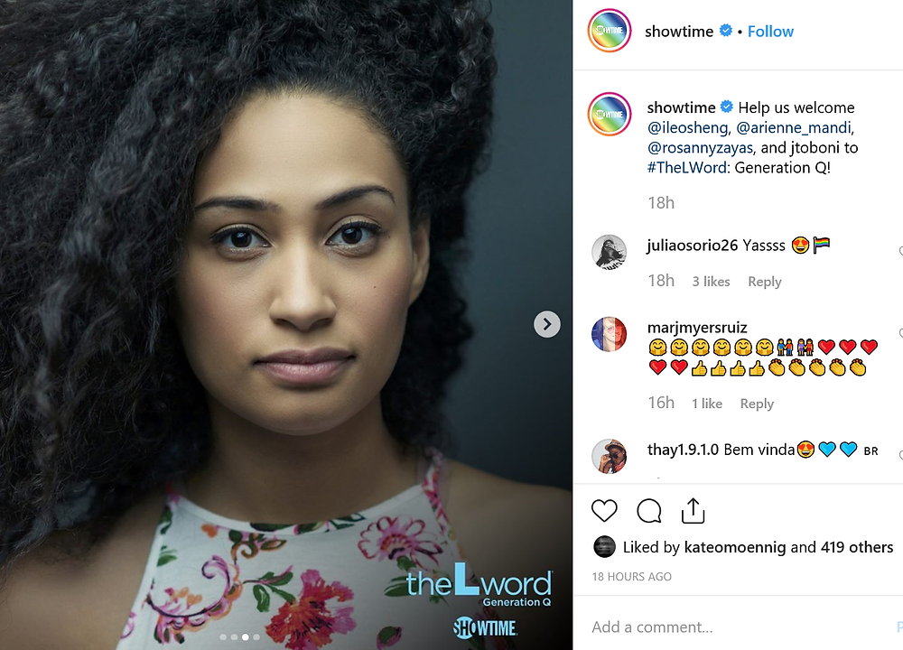 Rosanny Zayas will play TV producer Sophie Suarez on The L Word: Generation Q