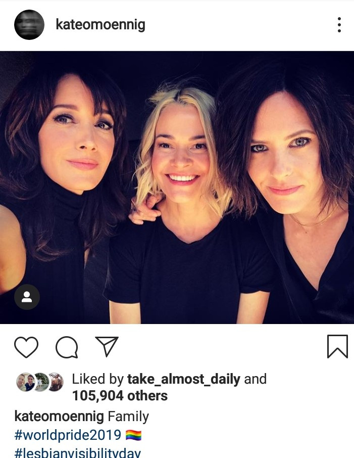 The L Word's Kate Moennig with Jennifer Beals and Leisha Hailey