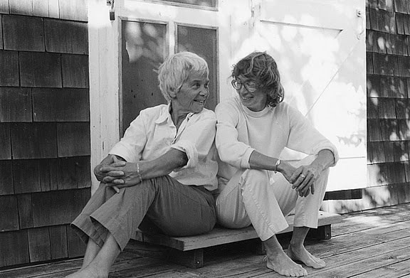 Molly Malone Cook, left and Mary Oliver at the couple's home in Provincetown, Massachusetts