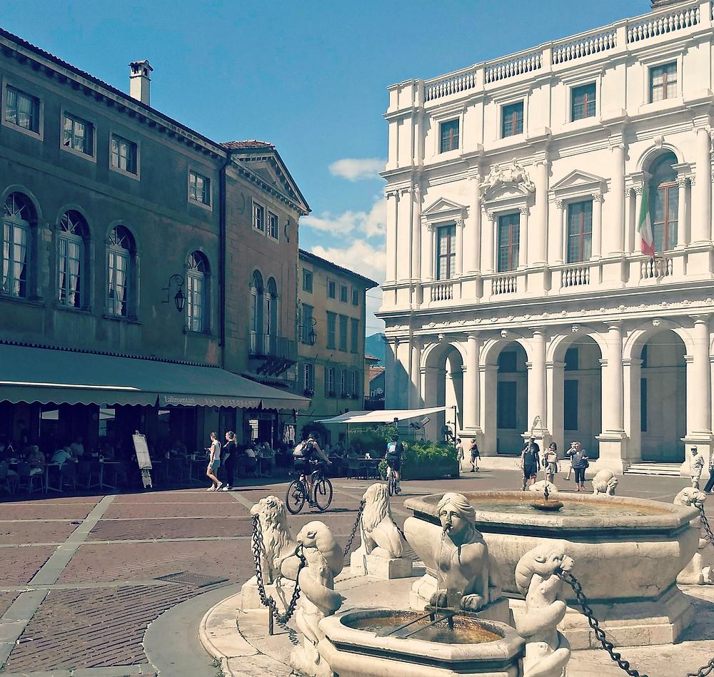 Piazza Vecchia in Bergamo's Citta Alta.