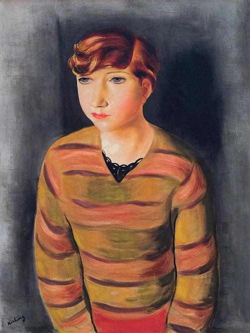 Jeune femme au pull raye, c.1935