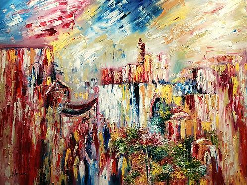 Ahuva Manies Old city view