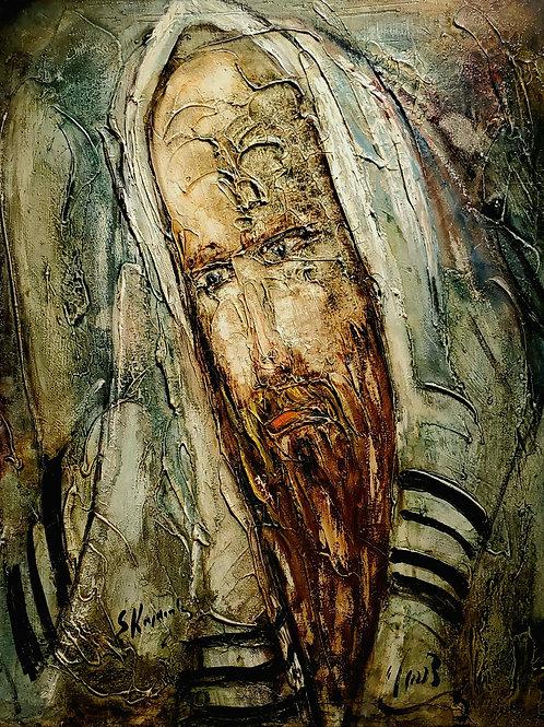 Zvi Raphaeli Portrait of Jewish man